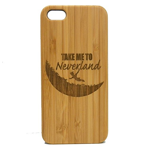 Neverland iPhone 5 iPhone 5S or iPhone SE Case. EcoFriendly Bamboo Wood Cover. Peter Pan Moon Fairytale Fantasy Pixie Dust. (Peter Pan Iphone Case compare prices)