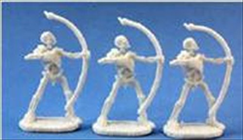Skeleton Archers (3) Miniatures by Reaper - 1