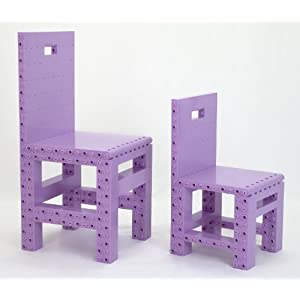 Do-It-Yourself DIY Building Block Furniture - Homebuilder Amateur (Light Purple)