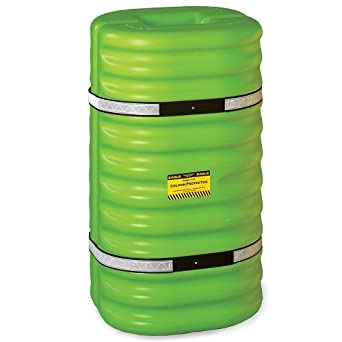 "Eagle 1710LM Hi-Vis Column Protector, 24"" Length x 24"" Width x 42"" Height, For 10"" Column, Lime Green"