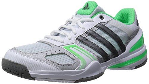 Adidas-Scarpe da tennis da uomo Rally Court All Court, Uomo, ftwr white/flash green s15/silver met., 42 UE