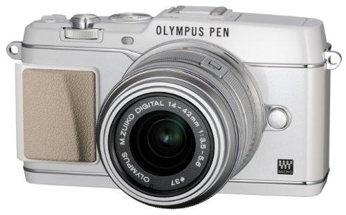 OLYMPUS ミラーレス一眼 PEN E-P5 14-42mm レンズキット(ビューファインダー VF-4セット) ホワイト E-P5 14-42mm LKIT WHT