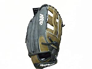 "Worth AMP 130h Slowpitch Leather Softball Glove New 13"" Right-hand Throw"