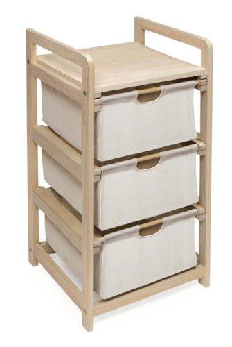 3 Drawer Hamper & Storage Unit (3 Drawer Hamper Storage Unit compare prices)