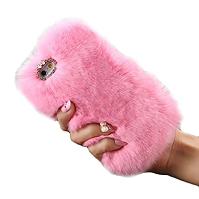 Iphone 6S Plus TOOPOOT Warm Fluffy Villi Fur Plush Wool Bling Cover For Apple IPhone 6S Plus (e)