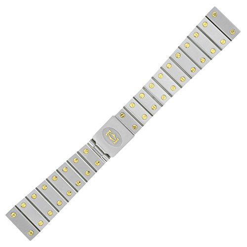 Cartier Santos 18 - 14 Mm Steel & Gold Men'S Watch Band