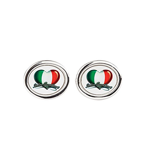 Cufflinks (Oval) Italian Sweetheart Italy Flag (Italian Flag Cufflinks compare prices)