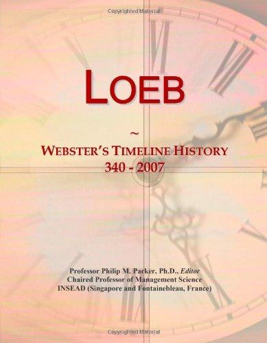 Loeb: Webster'S Timeline History, 340 - 2007