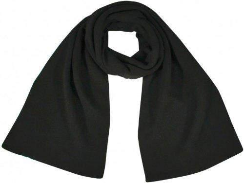 Doppellagiger Unisex Strickschal, Groesse:OS;Farbe:black
