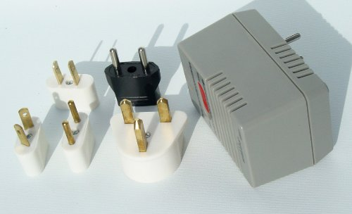 World Travel Voltage Converter Adapter Kit 50-1600 Watt Plug Power Charger Us Eu