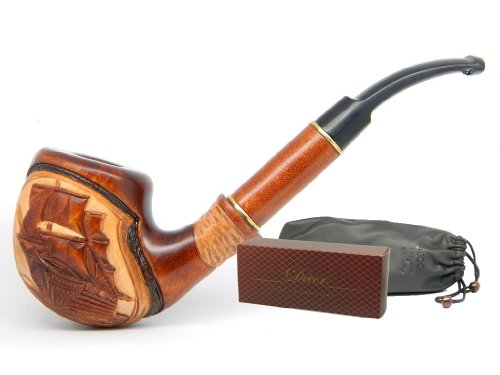 "Tobacco Smoking pipe ""Flying Dutchman Ship"" Captain Yaht Sailor Navy Sea Collectible, Estate, Limited Edition plus Gift POUCH"