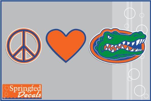 Florida Gators Peace Love Gator Head #2 Vinyl Decal Car Truck Window Uf Sticker