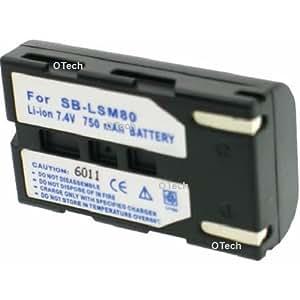 Otech C062SB Batterie pour Caméscope de type Samsung SB-LSM80 7,4 V