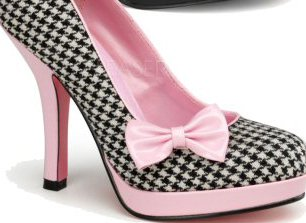 Baby Pink Houndstooth 4 1/2