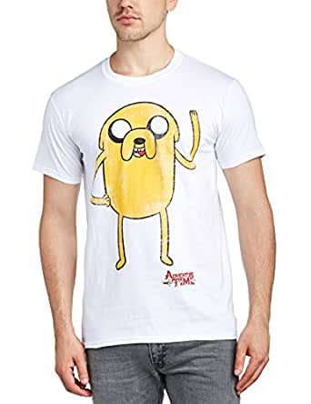 Adventure Time - T-shirt Homme Jake Waving - Blanc (White) - Small