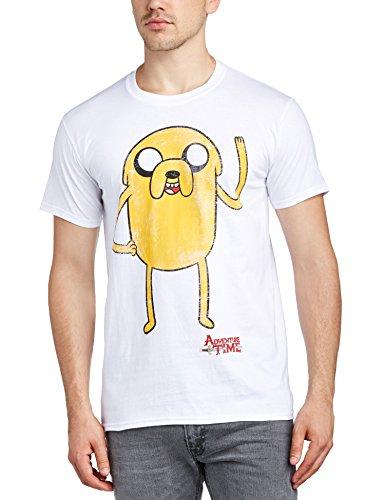 Hora-de-Aventuras-Camiseta-Jake-unisex-blanco-M