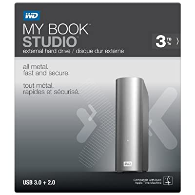 WD My Book Studio 3TB Mac External Hard Drive Storage USB 3.0