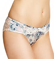 Rosie for Autograph Silk Blend Damask Rose Print Brazilian Knickers