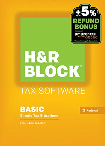H&R Block 2015 Basic Tax Software +  Refund Bonus Offer – Windows Download