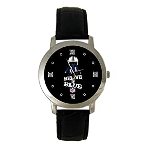 Indianapolis Colts Custom leather Band Fashion Adult Wrist Watch - Holiday tone
