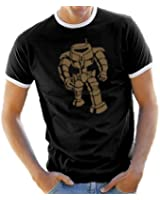Touchlines Herren T-shirt Big Bang Theory - Robot Man Ringer Kontrast