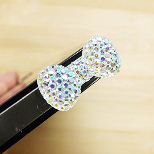 ZOEAST® 10 Colors Bling Luxury Crystal Red Blue Bowknot Bow Dust Plug 3.5mm Phone Headphone Jack Earphone Cap Ear Cap Dust Plug Charm iPhone 4 4S 5 5S SE 6 6S Plus Samsung IPad IPod (AB Bowknot) (Blue Dust Plug compare prices)