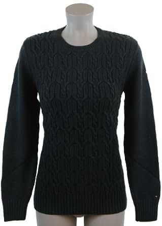 tommy hilfiger womens cable knit striped cotton logo. Black Bedroom Furniture Sets. Home Design Ideas