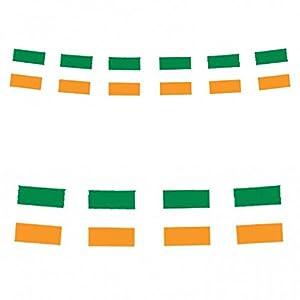 Irish Flag Bunting 12 Ft Plast