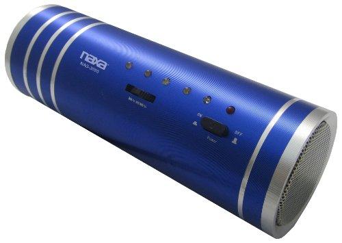 Naxa Electronics Nas-3055 Portable Tube Speaker With Usb, Sd/Mmc Inputs And Fm Radio With Colored Led Lights (Blue)
