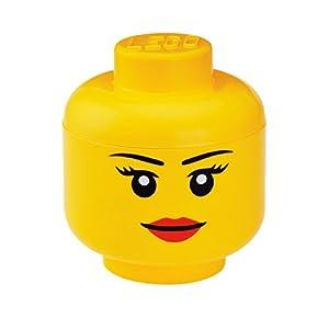 LEGO Storage Head Small, Girl, Yellow