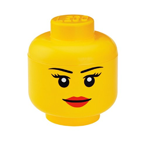 LEGO Storage Head Small, Girl, Yellow (Lego Household compare prices)