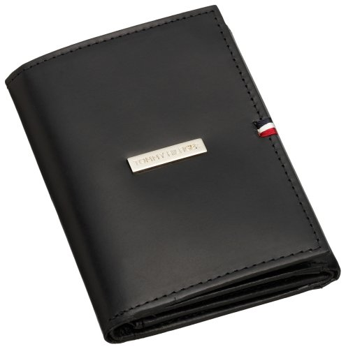 Tommy Hilfiger Men's Credit Card Trifold, Black, One Size