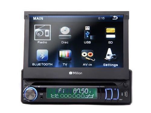 Milion D1309 7 Zoll 1 DIN Autoradio mit DVD Player,