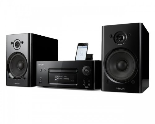 Denon RCDN8 Ceol System (black) With Denon SCN8 Speakers (black) + 2m QED Speaker Cable Black Friday & Cyber Monday 2014