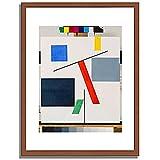 トイバー・アルプ Taeuber-Arp, Sophie「Equilibre. 1932/33」インテリア アート 絵画 プリント 額装作品 フレーム:木製(茶) サイズ:M (306mm X 397mm)