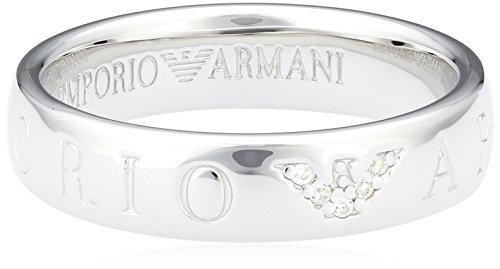 Emporio Armani Damen-Ring 925 Sterling Silber Zirkonia weiß Gr.56 (17.8) EG3144040-8