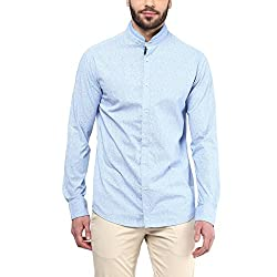 F Factor by Pantaloons Men's Cotton Shirt Sky Blue_40