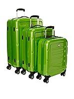 Roncato Set de 3 trolleys rígidos (Verde)
