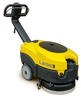"Lavor LAVOR36B Quick Battery Powered Floor Scrubber and Drier, 14"" Scrubbing Path"