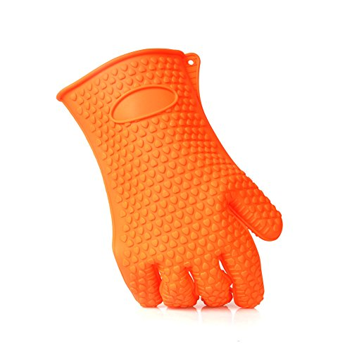 Tprance Cooking Kitchen Heat Resistant Gloves Bbq Temperature Between -40 - 230 Degree Thick Durable Heat Insulation Waterproofing Healthy Orange front-94765