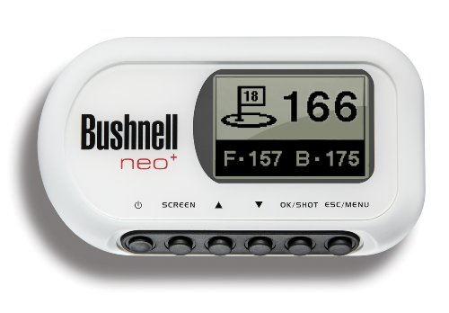 Bushnell White Neo+ Golf GPS Distance / Course Rangefinder