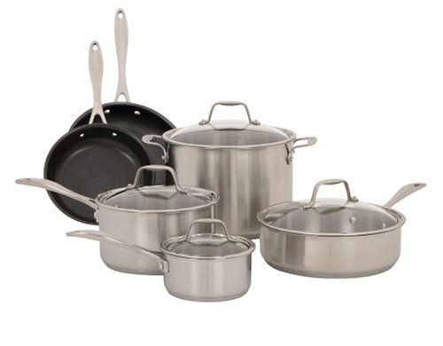 American Kitchen 10-Piece Stainless Steel Cookware Set