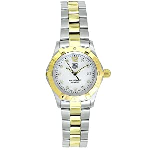 19c98576472 TAG Heuer Women's WAF1425.BB0814 Aquaracer Diamond Watch Model# 72853-image