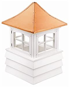 "113"" Handcrafted ""Manchester"" Copper Roof Vinyl Cupola"