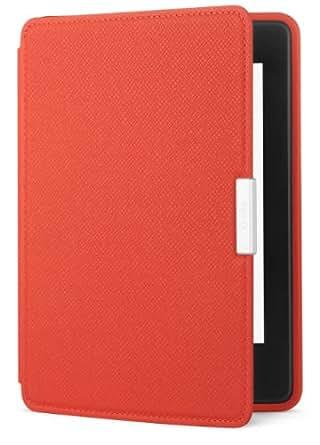 Amazon - Étui en cuir pour Kindle Paperwhite, Rouge corail - compatible avec toutes les générations de Kindle Paperwhite
