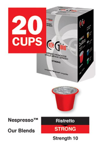 Buy Nespresso® Compatible Coffee Pods Strong Intensity 10 (our replacement for Smart Coffee Roma) from Caffe Gioia
