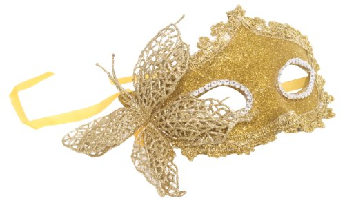 Women Gold Fairy Fairies Princess Butterfly Mask Costume Party