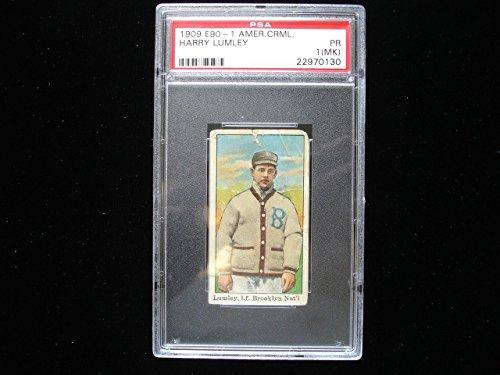 1909 E90 1 American Caramel Baseball Card - Harry Lumley - Psa Pr 1 (Mk)