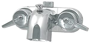 Polished Chrome Victorian Bathcock Clawfoot Bathtub Tub Wall Faucet Valve Mixer w Diverter