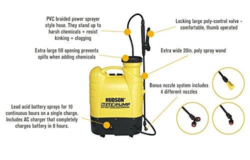 Hudson 13854 Never Pump Bak-Pak 4 Gallon Battery Operated Sprayer